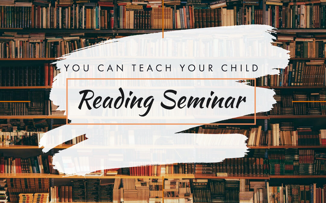 NOW FREE! YOU can teach your child to read! Seminar