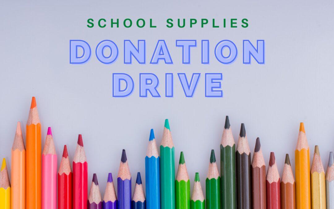 School Supplies Donation Drive